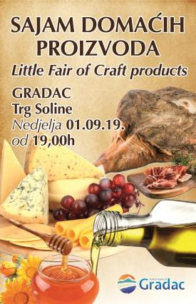 Small fair of local products in Gradac